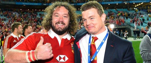 Adam Jones was a British and Irish Lions tourist in 2009 and 2013