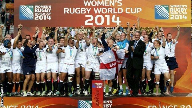 England win the 2014 women's rugby World Cup