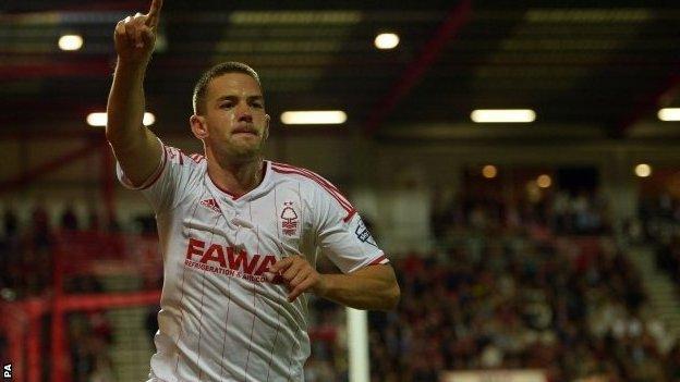 Matty Fryatt celebrates scoring the winner at Bournemouth