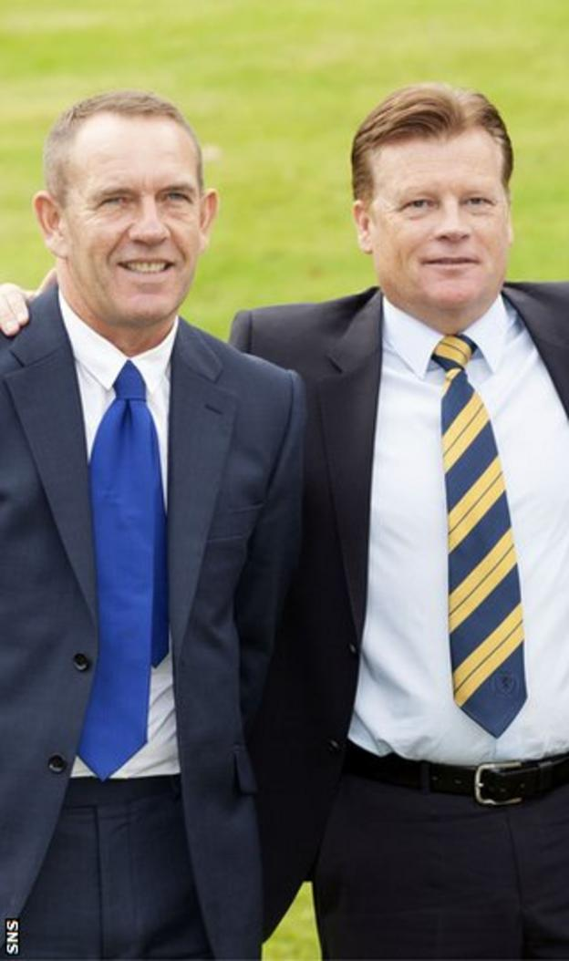 Kenny Shiels and Mark Wotte