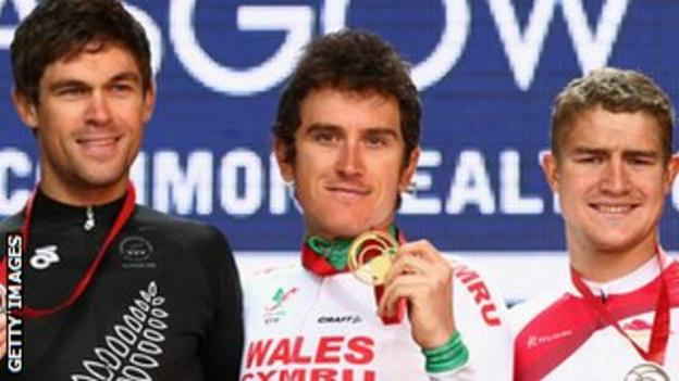 Jack Bauer, Geraint Thomas and Scott Thwaites