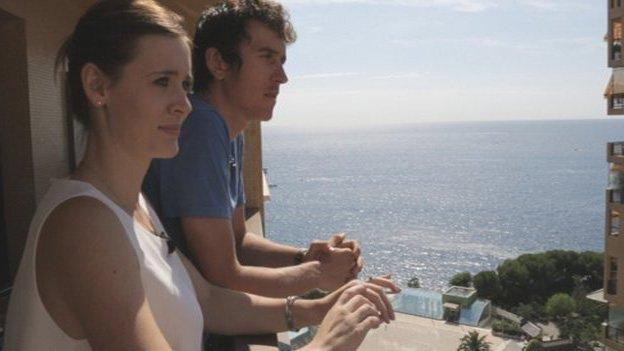 Sara and Geraint Thomas