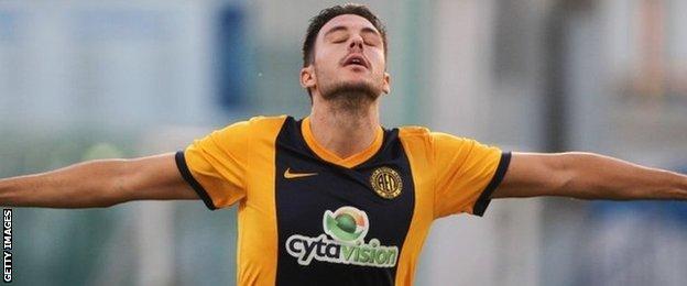 Limassol striker Adrian Sardinero