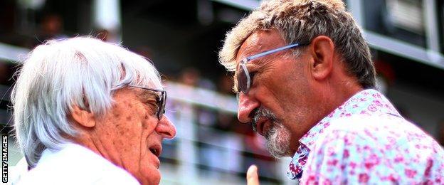 Bernie Ecclestone and Eddie Jordan