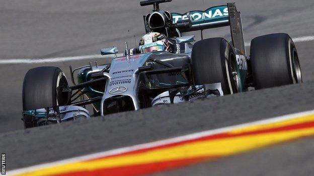Nico Rosberg was fastest in first practice for the Belgian Grand Prix at Spa