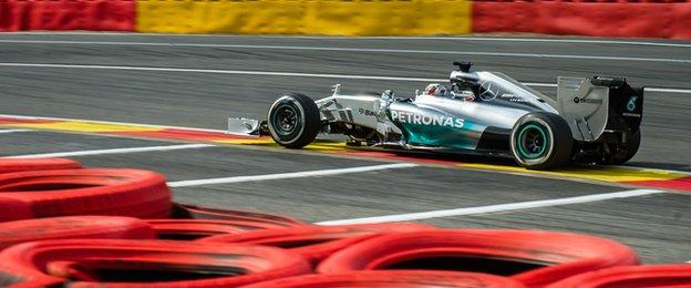 Lewis Hamilton was fastest in second practice for the Belgian Grand Prix at Spa