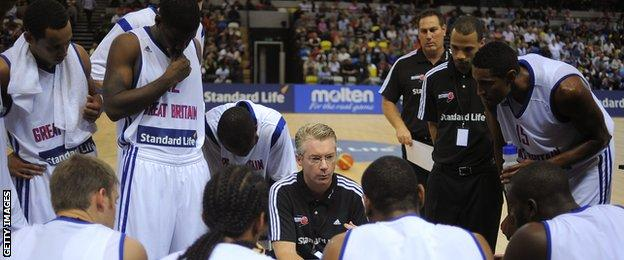 GB team talk with coach Joe Prunty