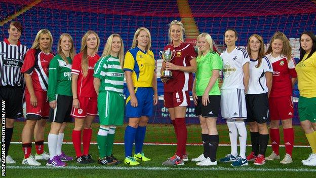Representatives of the 12 member clubs launched the new Women's Welsh Premier League season