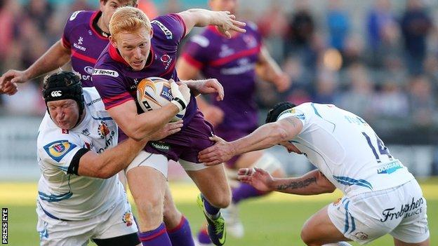 Rory Scholes scored two tries for Ulster
