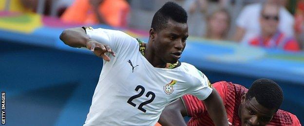 Ghana winger Wakaso Mubarak