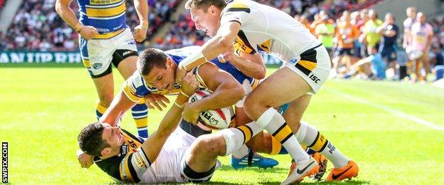 Leeds Rhinos winger Ryan Hall