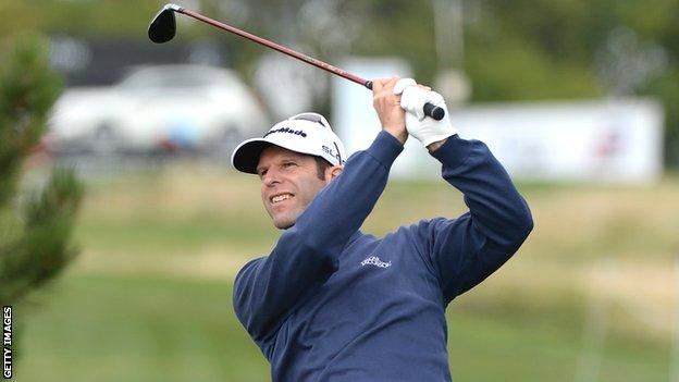 Bradley Dredge in third-round action at the Czech Masters