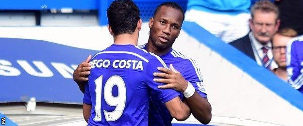 Didier Drogba replaces Diego Costa