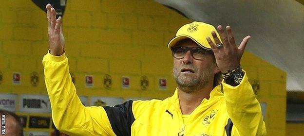 Jurgen Klopp reacts to Leverkusen's win against Borussia Dortmund
