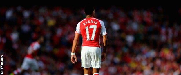 Arsenal forward Alexis Sanchez
