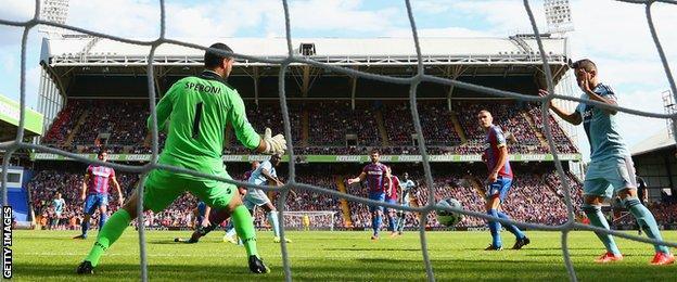 West Ham beat Crystal Palace 3-1