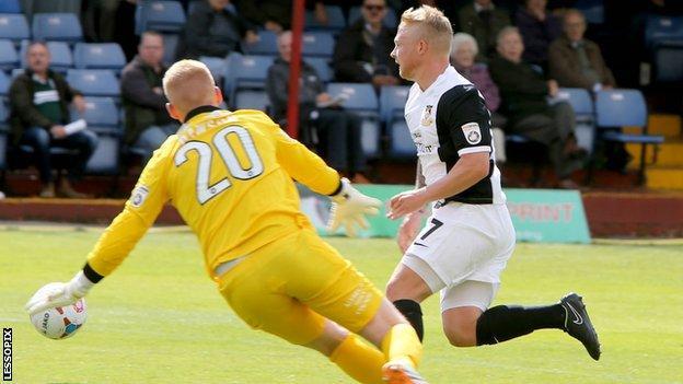 Elliott Durrell in action against Alfreton