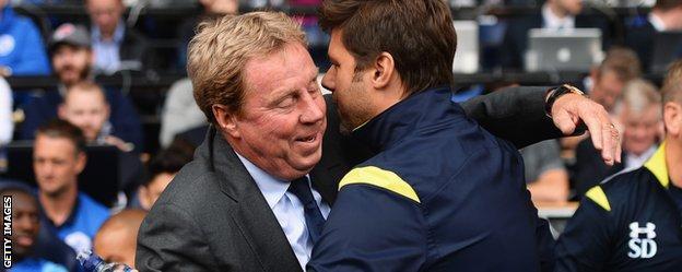 QPR boss Harry Redknapp and Tottenham manager Mauricio Pochettino