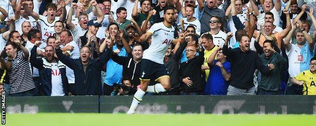 Tottenham winger Nacer Chadli