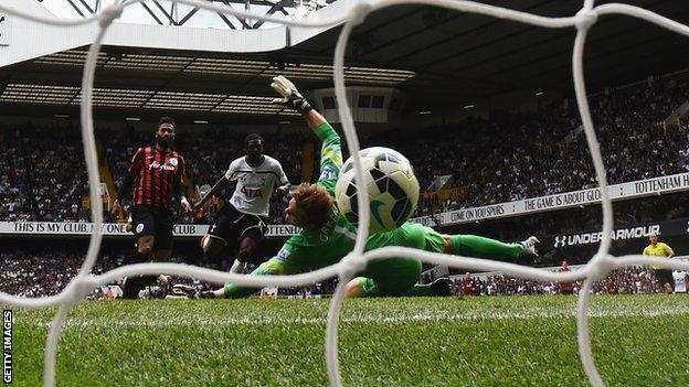 Tottenham striker Emmanuel Adebayo