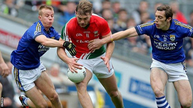 Kerry pair Fionn Fitzgerald and David Moran challenge Mayo's Aidan O'Shea