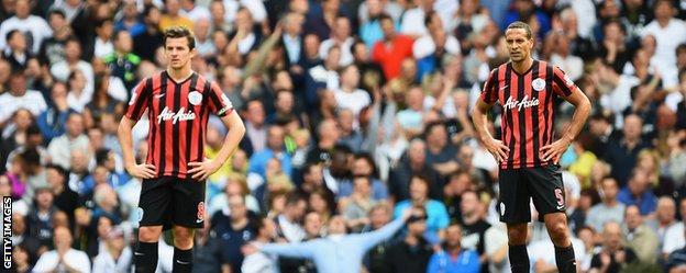 QPR players Joey Barton and Rio Ferdinand