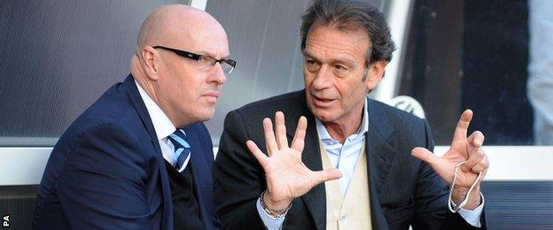 Massimo Cellino and Brian McDermott