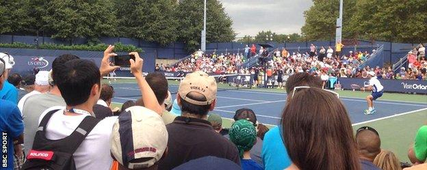 James McGee in action at US Open qualifying