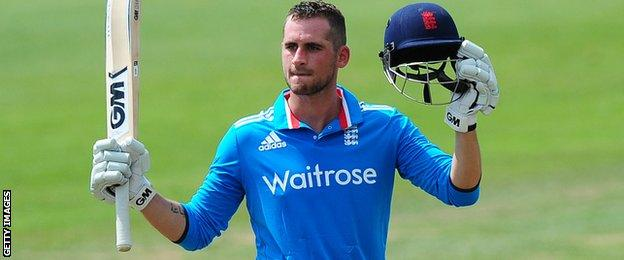 Alex Hales has scored three centuries in five one-day games for Nottinghamshire this summer