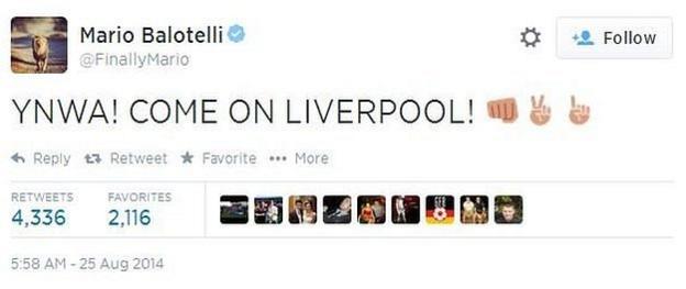 Balotelli tweet