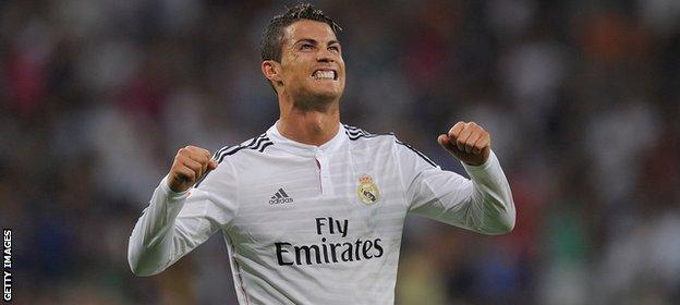 Real Madrid goalscorer Cristiano Ronaldo