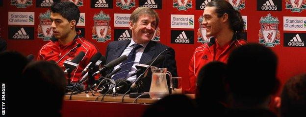 Luis Suarez. Kenny Dalglish and Andy Carroll