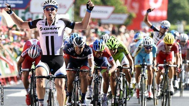 Germany's John Degenkolb wins the fourth stage of the Vuelta a Espana