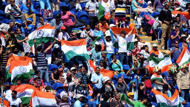 Indian fans in Cardiff