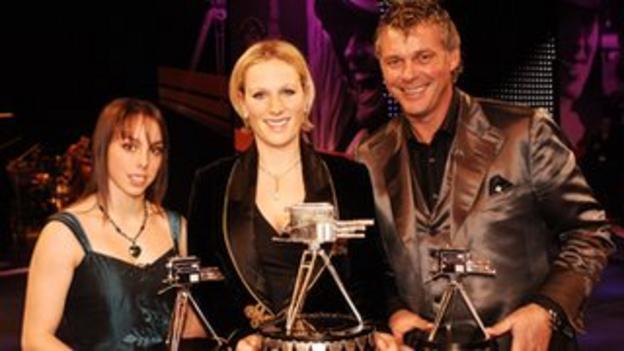 Beth Tweddle(third) alongside 2006 BBC Sports Personality of the Year winner Zara Phillips MBE and runner-up Darren Clarke