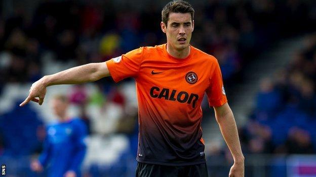 Brian Graham playing for Dundee United