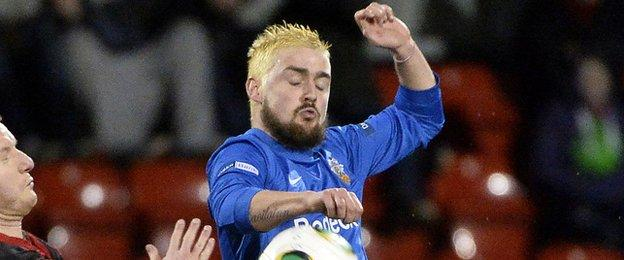 Tiernan Mulvenna moved to Cliftonville as part of a deal which saw Ciaran Caldwell go to Glenavon
