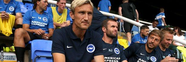 Sami Hyypia, Nathan Jones and Joaquin Gomez