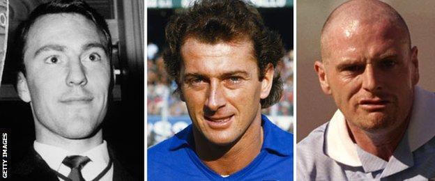 Jimmy Greaves, Trevor Francis and Paul Gascoigne