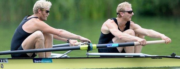 New Zealand's Hamish Bond and Eric Murray