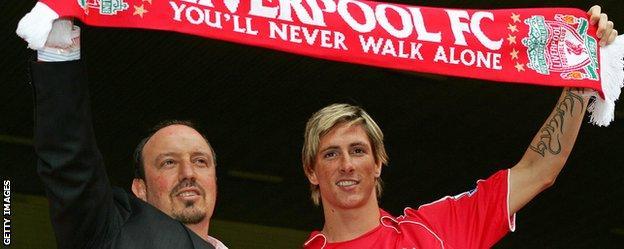 Fernando Torres and Rafa Benitez