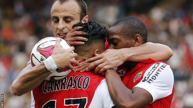 Monaco drew 1-1 against Lille without Radamel Falcao
