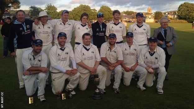 St Just's title-winning team