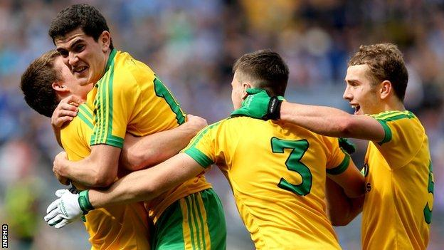Donegal minors celebrate reaching their first ever All-Ireland final