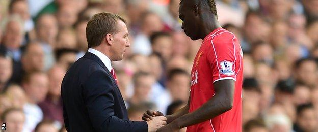Brendan Rodgers and Mario Balotelli - Liverpool