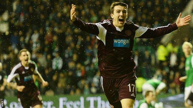 David Smith scored the winner for Hearts against Hibs in last year's New Year derby.