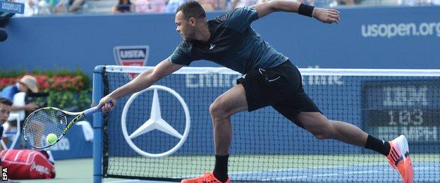 Jo-Wilfried Tsonga at the US Open