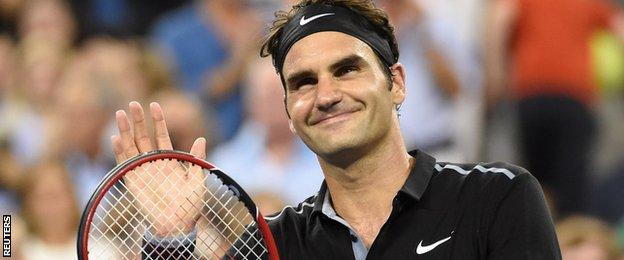 Federer eased into the US Open quarter-finals, beating Bautista Agut in one hour and 54 minutes