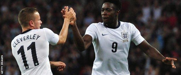 Tom Cleverley and Danny Welbeck
