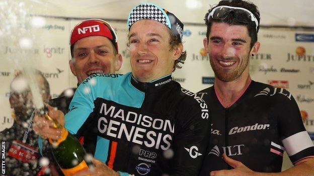 Tobyn Horton celebrates winning